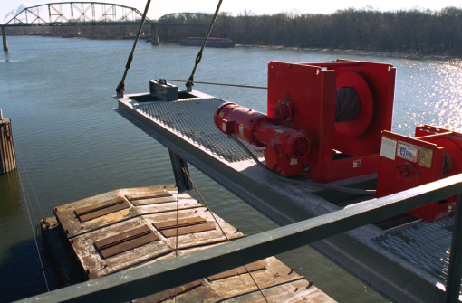 Commercial Shipping Barge Winch - Custom Engineering