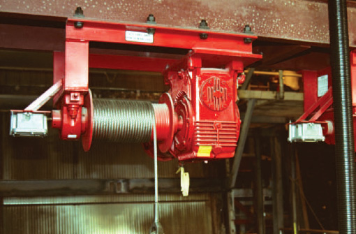 Bar Screen Winches at Thern