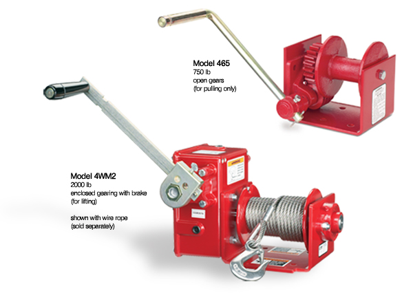 Worm Gear Series Hand Winches at Thern