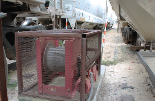 Rail Car Positioning Winches at Thern