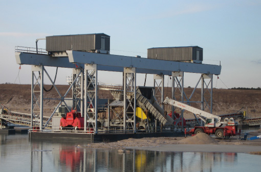 Dredge & Barge Positioning Winches at Thern