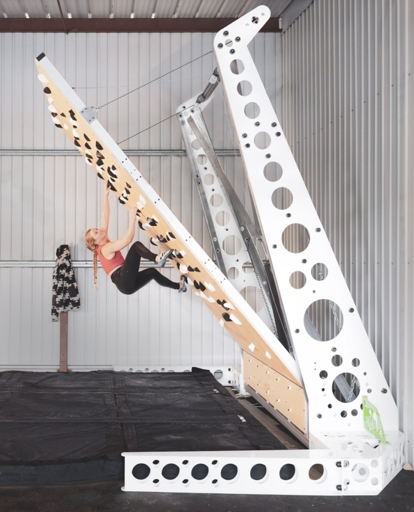 Grasshopper Freestanding Adjustable Climbing Wall -Stands Alone
